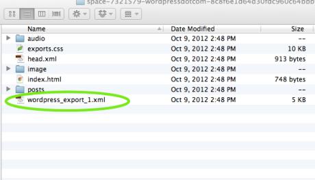 Posterous zip-Datei Inhalt